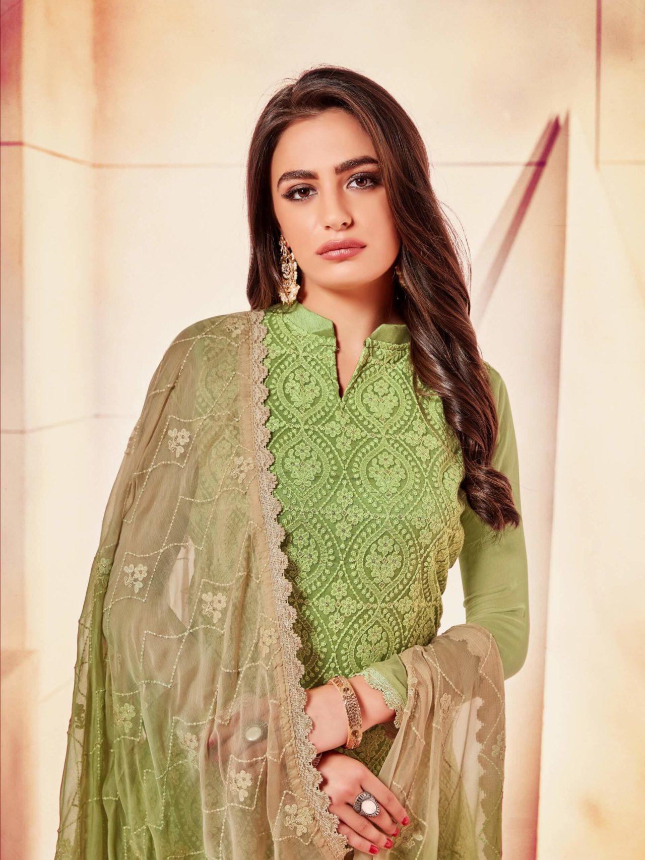 Mehndi Green Suit Piece