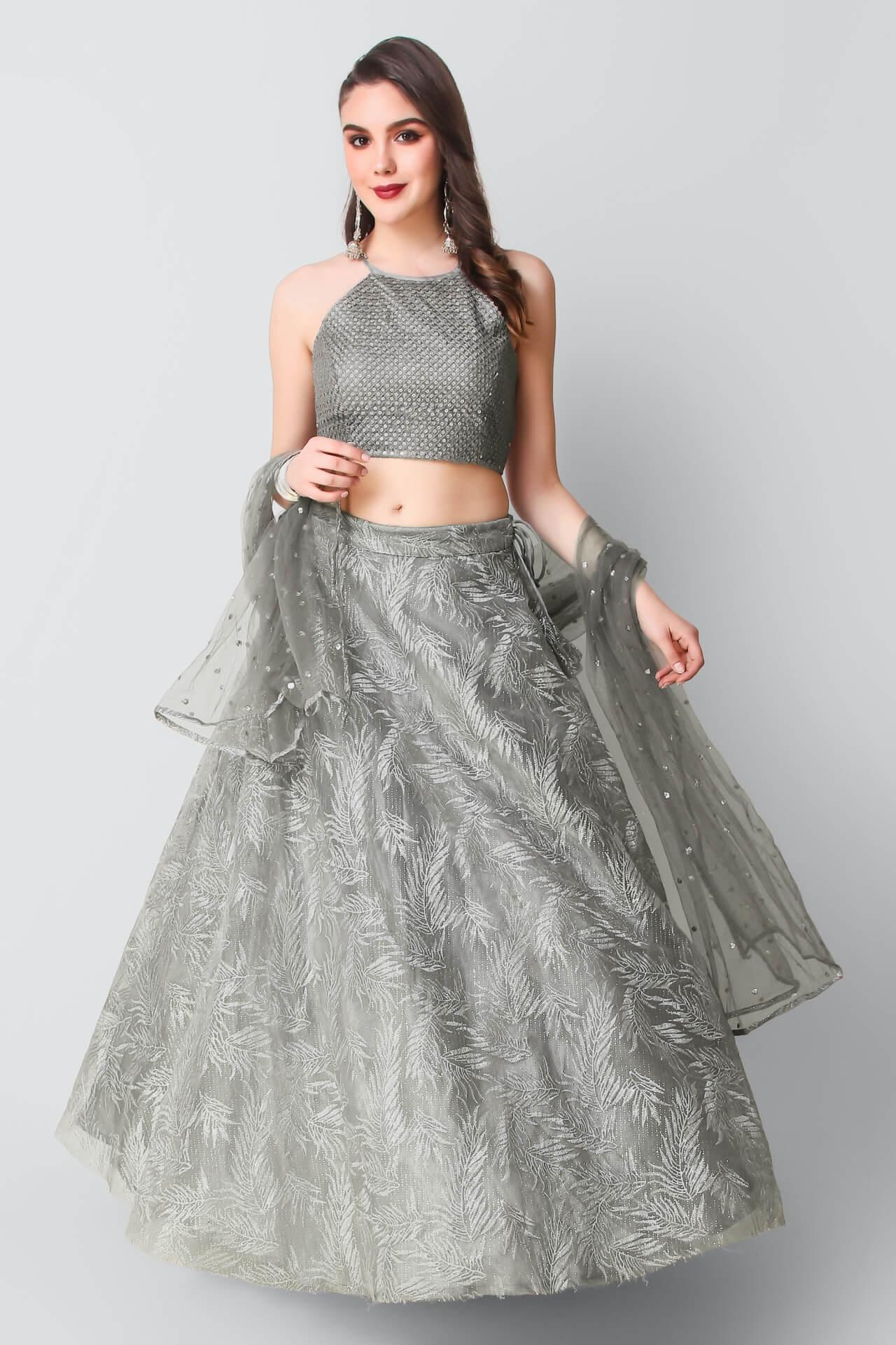 Grey Lehenga